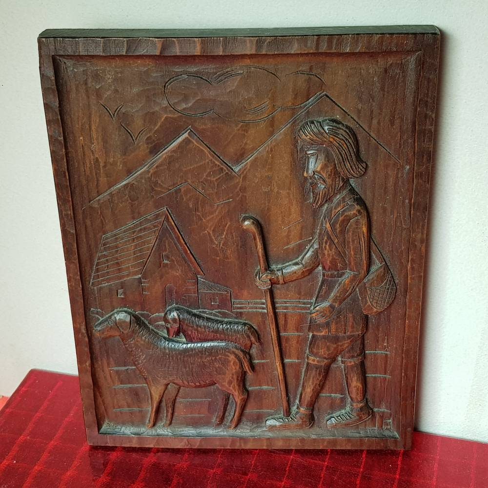 Ovejas Bajo Antiguo Relieve Online De Librería Madera Pastor Talla 7ybfY6vg