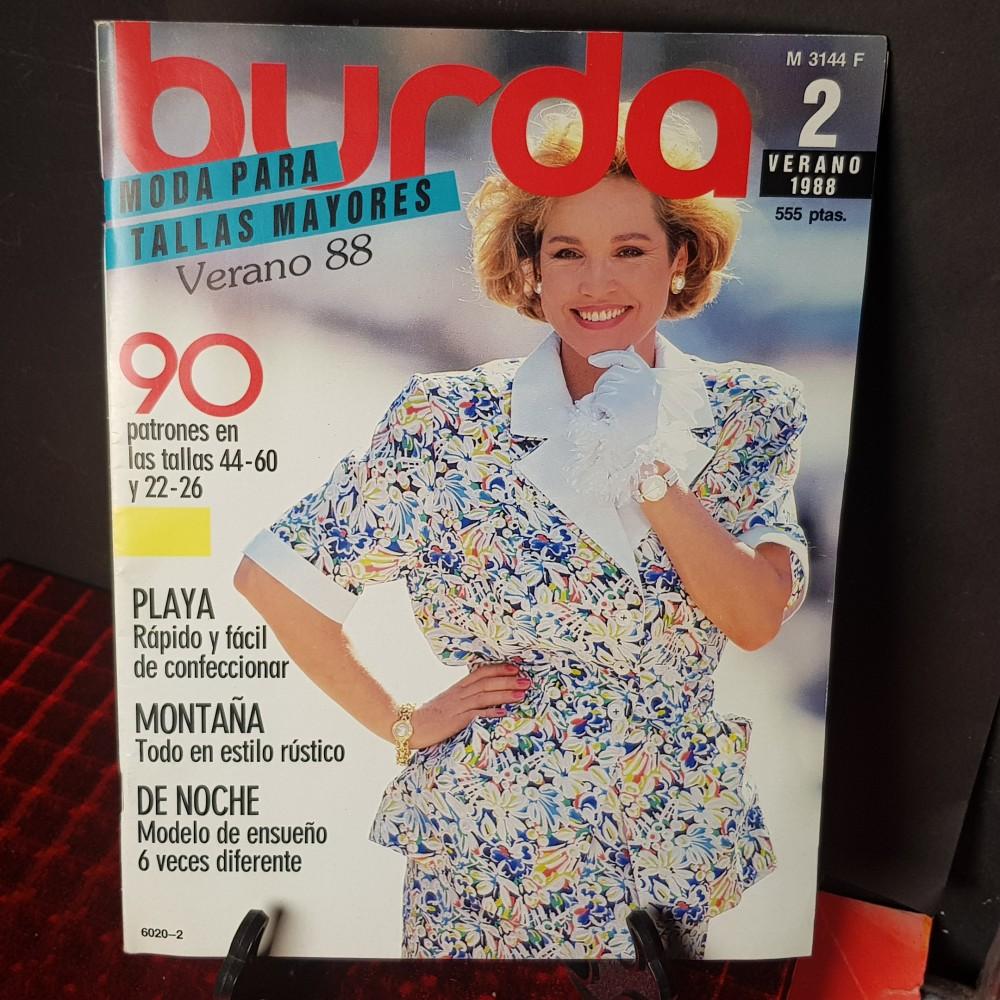 Revista De Labores Burda Moda Para Tallas Grandes Verano 1988